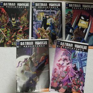 DC comics Batman & TMNT Adventures 5 lot